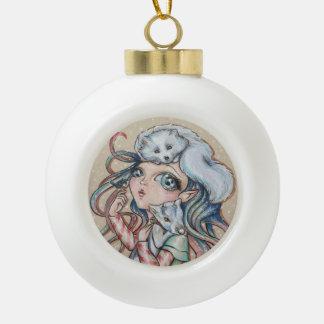 Christmas Friends Ceramic Ball Christmas Ornament