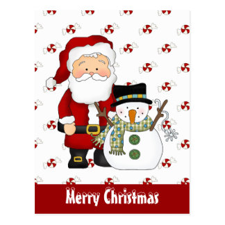 Christmas Friends holiday greeting card Postcard