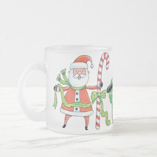 Christmas Friends Mug! 10 Oz Frosted Glass Coffee Mug