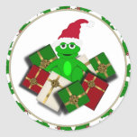 Christmas Frog and Gift Stickers