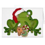 Christmas Frog Card