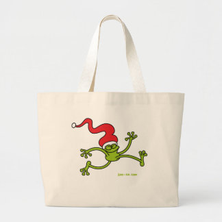 Christmas Frog Jumping out of Joy! Bag