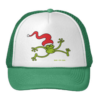 Christmas Frog Jumping out of Joy! Trucker Hat