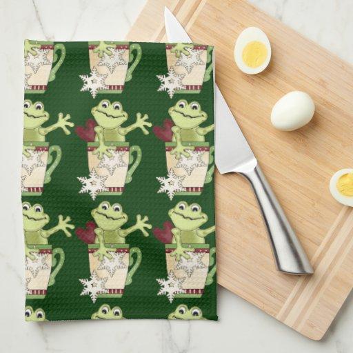 Christmas frog Mug Kitchen towel