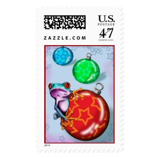 Christmas frog postage