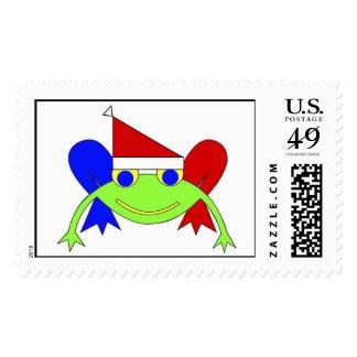 Christmas Frog Postage Stamp