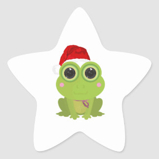 Christmas Frog Sticker