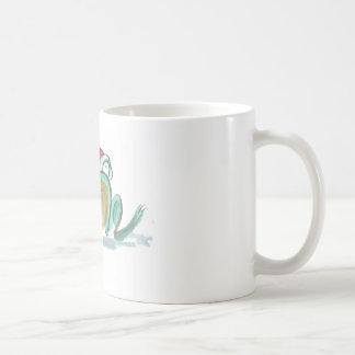 Christmas Frog, Sumi-e Coffee Mug