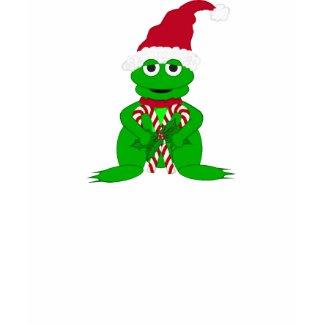 Christmas Frog Tshirt shirt