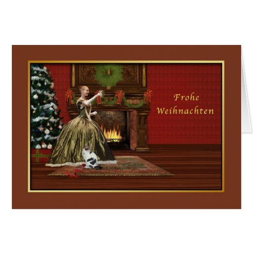 christmas frohe weihnachten german vintage card zazzle. Black Bedroom Furniture Sets. Home Design Ideas