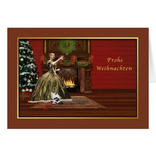 christmas frohe weihnachten german vintage card zazzle. Black Bedroom Furniture Sets. Home Design Ideas