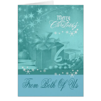 Christmas From Both Of Us Greeting Card
