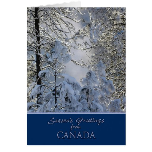 Christmas From Canada Card Zazzle