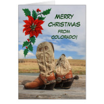 Christmas From Colorado Western Boot Card