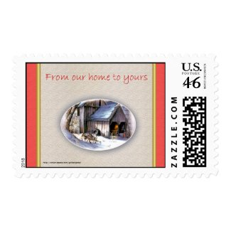 Christmas from our home to yours Happy Holidays Postage Stamps