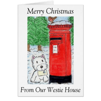 Christmas From Our  Westie House Christmas card