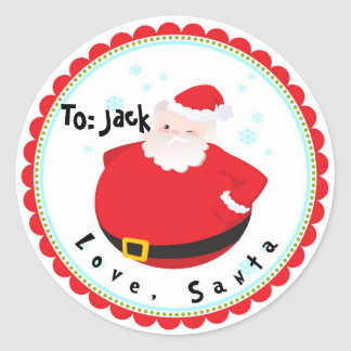 Christmas From Santa Stickers Labels