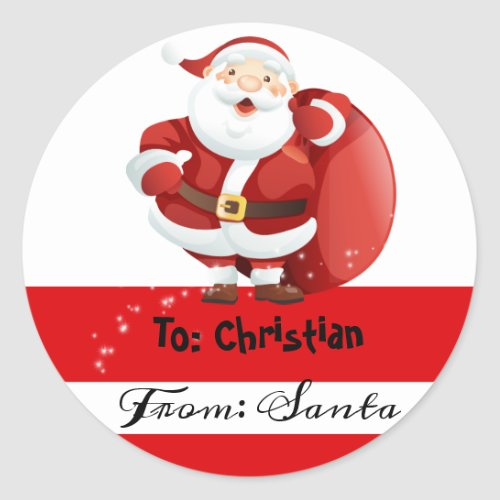 Christmas From Santa To stickers