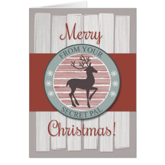 Christmas from Secret Pal with Rustic Reindeer Card