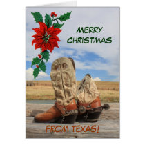 Christmas From Texas Western Boot Card