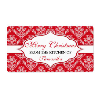 Christmas From The Kitchen Of labels Personalized