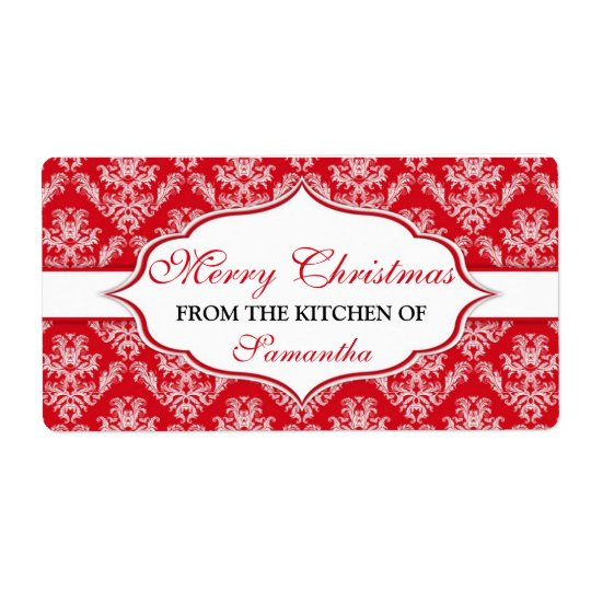 christmas from the kitchen of labels personalized zazzle com