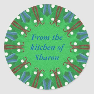 Christmas From the Kitchen of Personalized Sticker