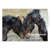 Christmas from Wyoming Wild Horses Christmas Card