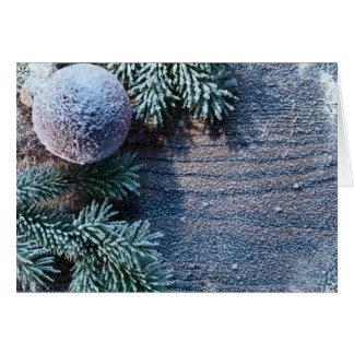 Christmas Frozen ornament Card