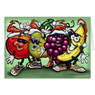 Christmas Fruit Greeting Cards