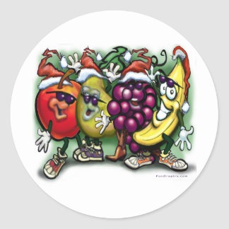 Christmas Fruit Classic Round Sticker