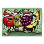 Christmas Fruit Greeting Cards
