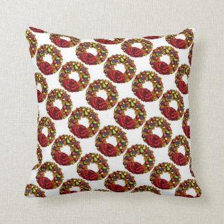 Christmas Fruit Wreath Pillow