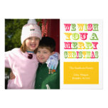 Christmas Fun Christmas Card (Yellow) Announcements