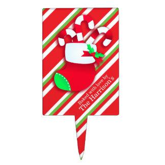 Christmas fun cookie swap custom name sign cake topper