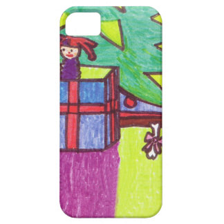 Christmas fun, gifts under the tree iPhone SE/5/5s case