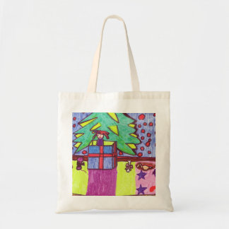 Christmas fun, gifts under the tree tote bag
