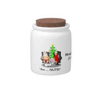 Christmas Funny Beer Drinking Santa Candy Dish