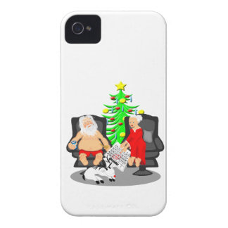 Christmas Funny Beer Drinking Santa Clause iPhone 4 Cover