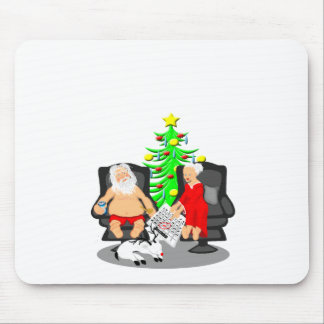 Christmas Funny Beer Drinking Santa Clause Mouse Pad