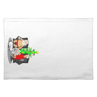 Christmas Funny Beer Drinking Santa Clause Place Mat