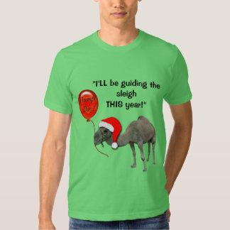 Christmas Funny Camel Santa Hump Day Tshirt