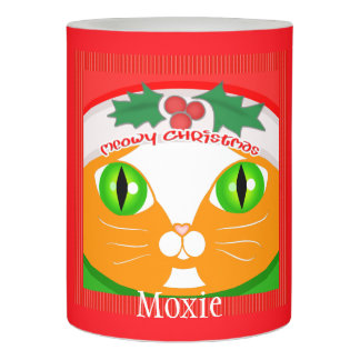 Christmas Funny Ginger Cat Custom Candle