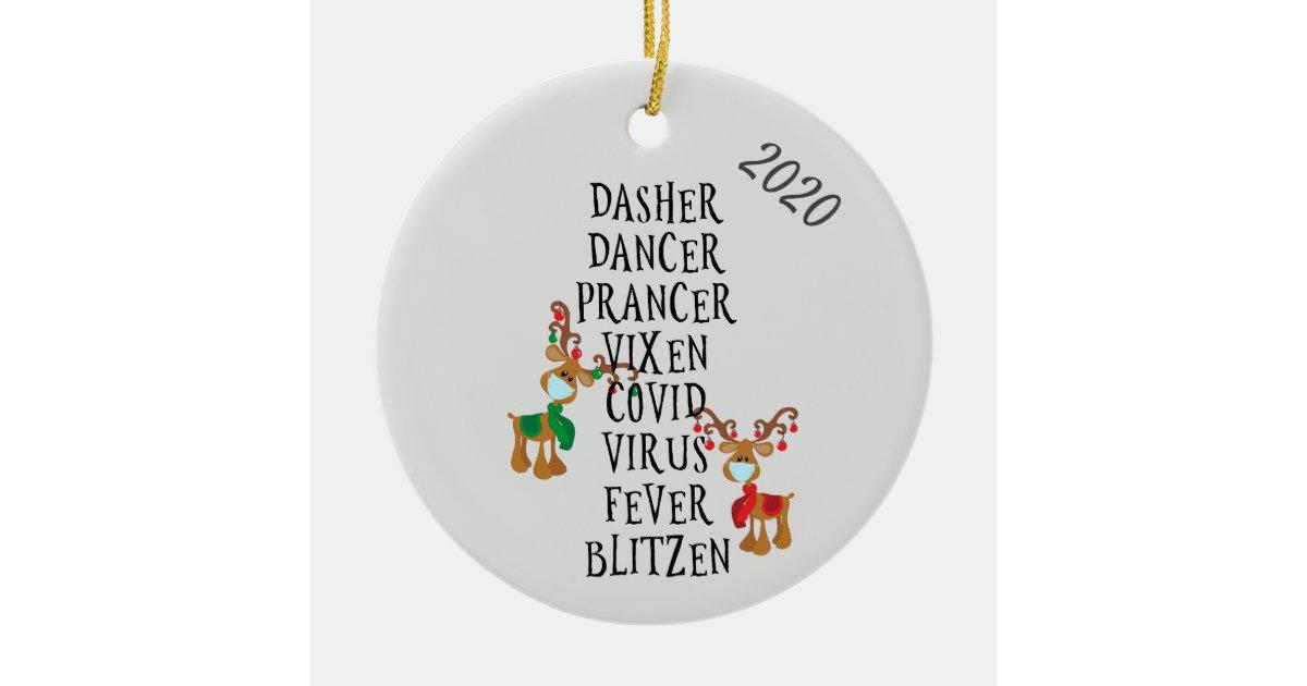 Christmas Fever Phoenix Az 2020 Christmas Funny Reindeer Names Covid 2020 Ceramic Ornament