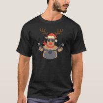 Christmas Funny Rudolf Biker Motorcycle T-Shirt