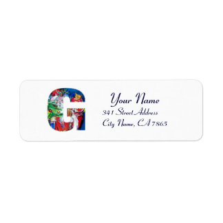 CHRISTMAS G LETTER / SANTA WITH CHRISTMAS TREE LABEL