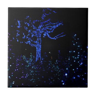 Christmas Garden Glow Ceramic Tile