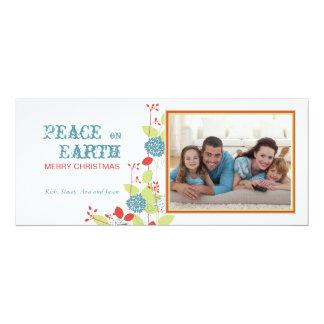Christmas Garden Slim Holiday Photo Card