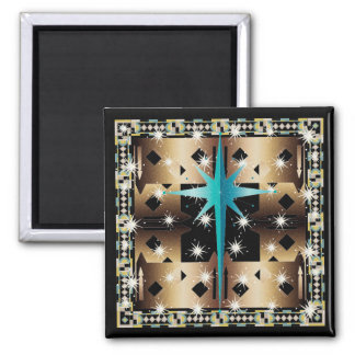 Christmas Garden Wall 2 Inch Square Magnet