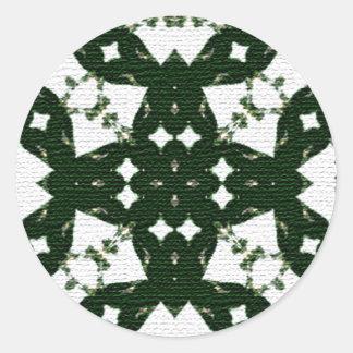 Christmas Garland Green Classic Round Sticker